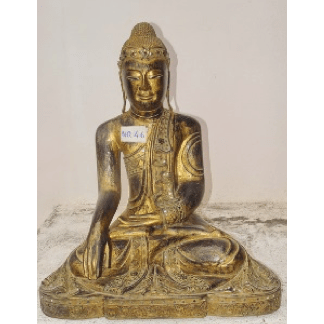 "14"" Sitting Buddha Black/Gold"