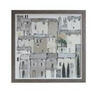 Framed Canvas Wall Art w/Buildings Image