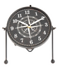 Black Metal Convex Table Clock