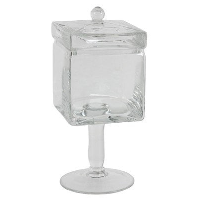 Dora Stemmed Square Jar, Medium