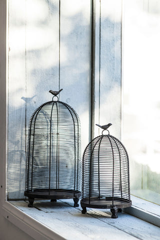 Image of Ophira Golden Sparrow Mesh Candle Holders
