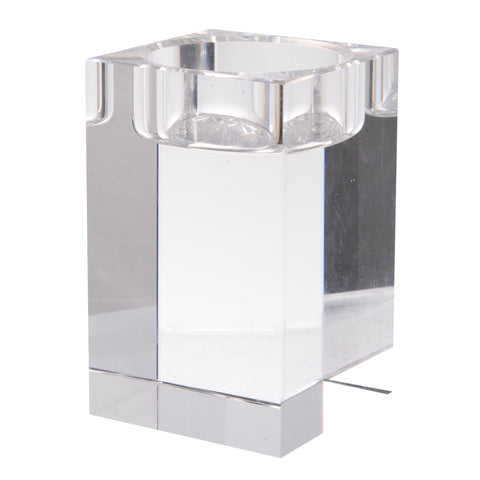 CRYSTAL TEALIGHT HOLDER,SQUARE