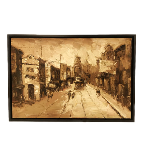 Hand Painted Old Shanghai Oil Painting (7) 97x67cm