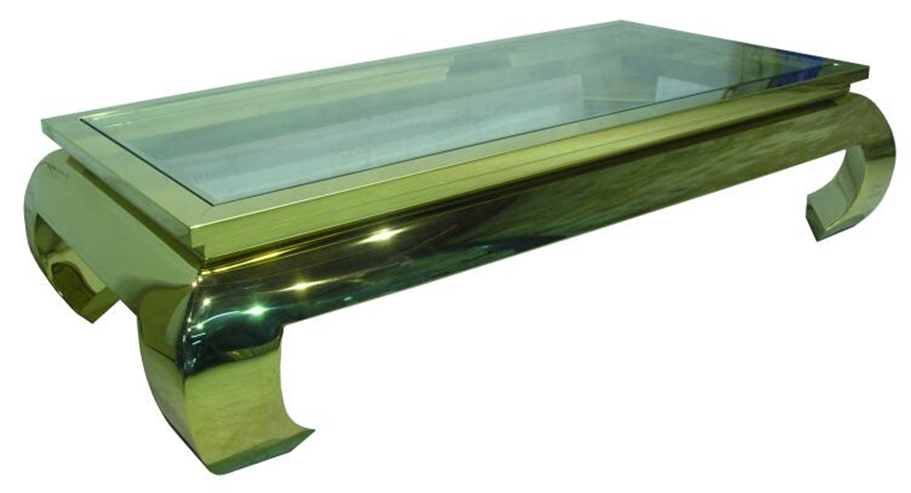 Canton Cocktail Table Rectangle Gold