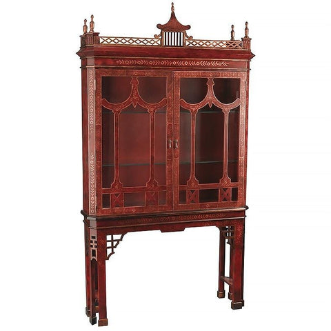 Chinoiserie Style Display Cabinet