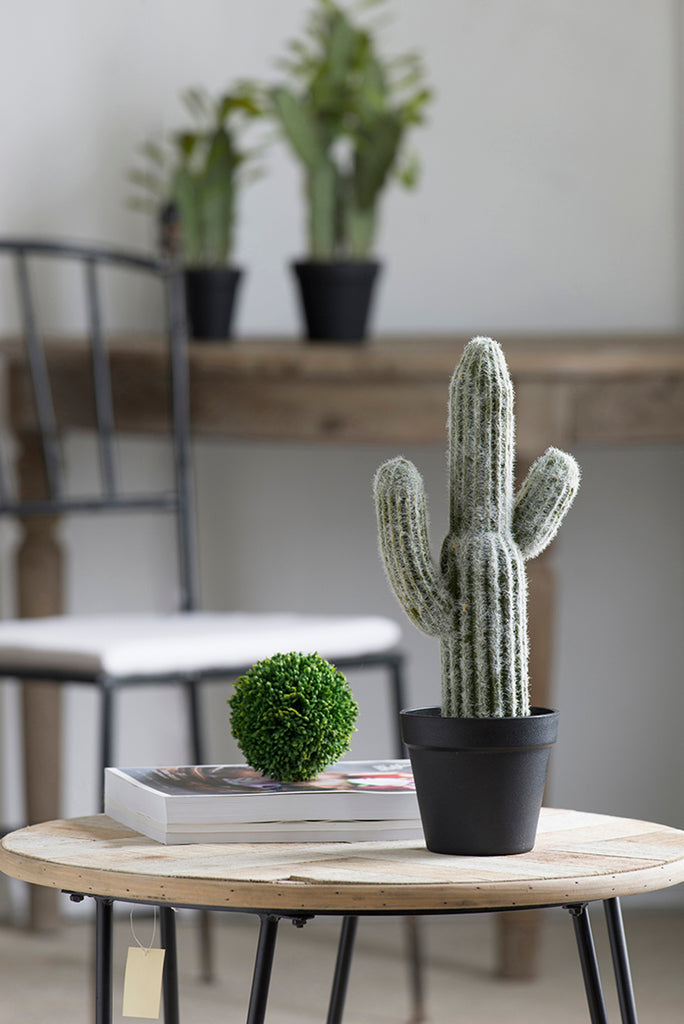 Potted Faux Saguaro Cactus