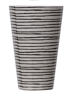 Black And White Bamboo And Melamine Fibre Cup