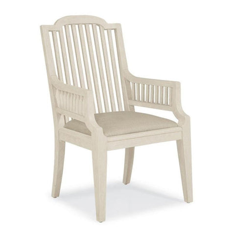 Slat Arm Chair Weathered White - Taylor B. Fine Design Group - 1