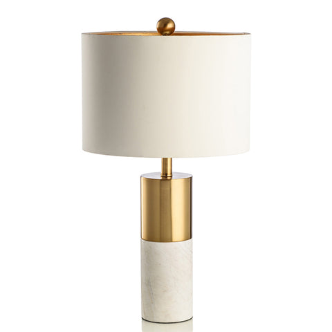 Tall Marble White Table Lamp