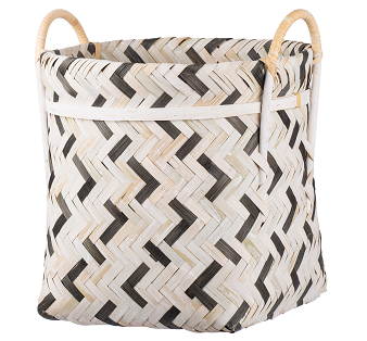 Image of Organic Elements Geometric Black and White Basket