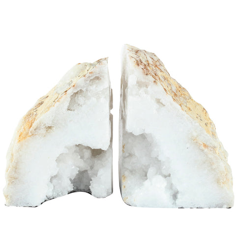 BOOKENDS, NATURAL GEODE