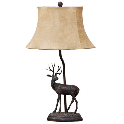 Teal Deer Table Lamp