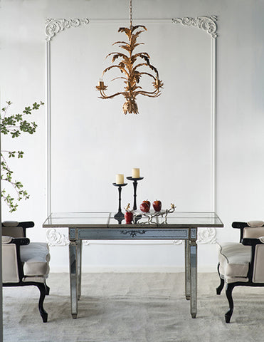 Image of Violet Mirrored Table