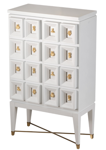 Cream and White Wine Cabinet