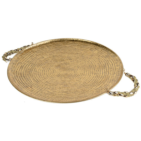 Golden Blaise Tray Round