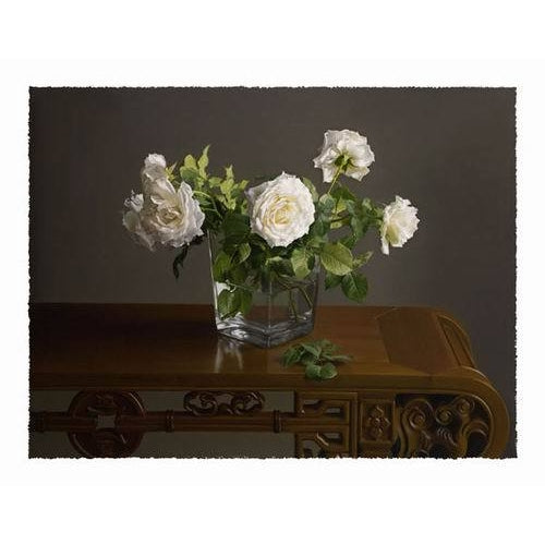 Drooping White Roses