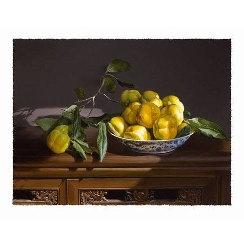 Yellow Gourds On Antique Plate