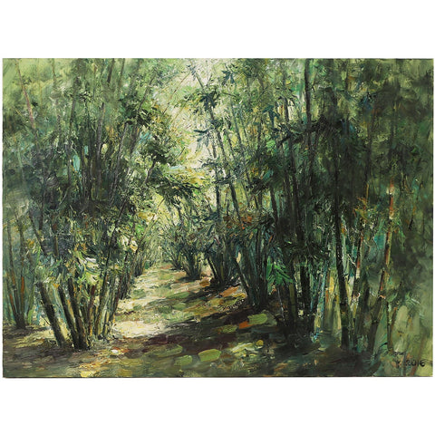 Bamboo Forest Original Oil Painting Vietnam