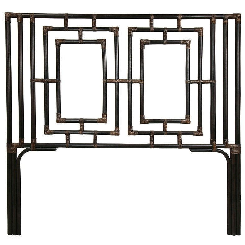 Chippendale Bamboo Headboard U.S King- Black