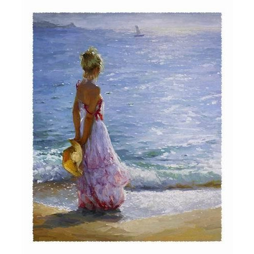 Lady And Mid Summer Sea view