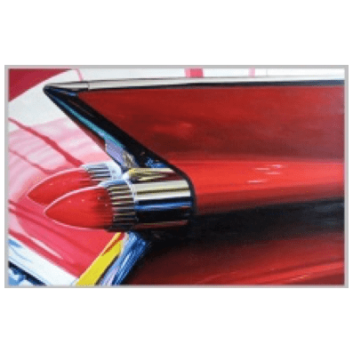 Cadillac Red Light - Oil on Canvas
