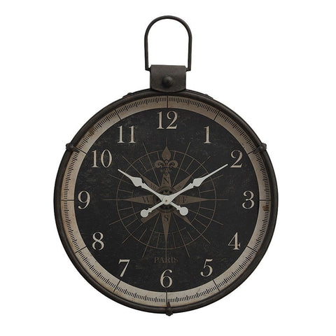 Image of Wall Clock with Compass Image