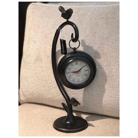 Black Metal Bird Clock