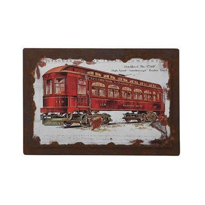 Train Car Wall Plaque 4