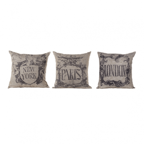 Image of Fabrice Vintage Metropolitan Linen Cushions