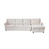 Asher Sectional Sofa w/ Storage, White, Left (ON SALE)