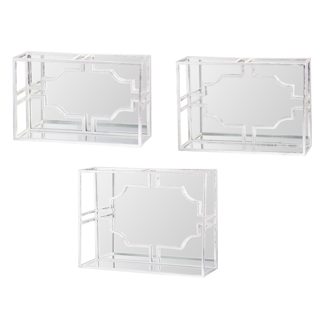 Rosa Mirrored Shelf  SMALL