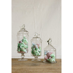 Glass Container with Bird Lid - Taylor B. Fine Design Group - 2