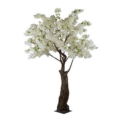 Full Size Faux Cherry Blossom Tree - WHITE