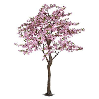 Full Size Faux Apple Blossom Tree - PINK