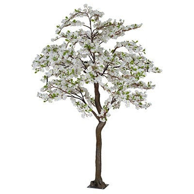 Full Size Faux Apple Blossom Tree- WHITE