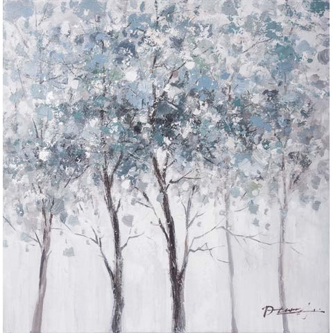 Gallery Wrapped Original Oil Painting Light Blue Forest 80x80