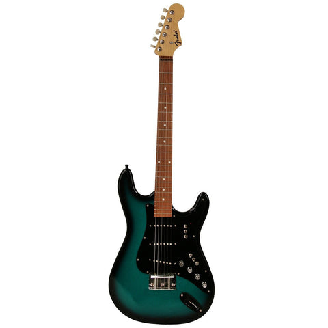 Fender Green & Black Gloss Finish Electric Guitar With Case