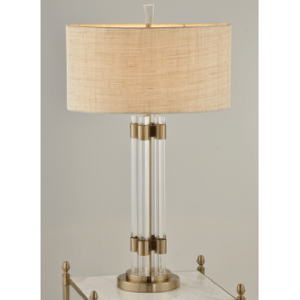 4 Crystal Rod Table Lamp