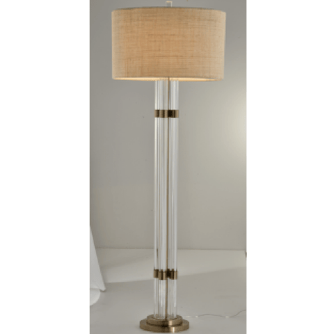 4 Crystal Rod Floor Lamp