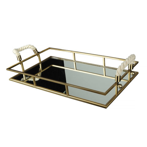 Mirror Rope Handle Tray