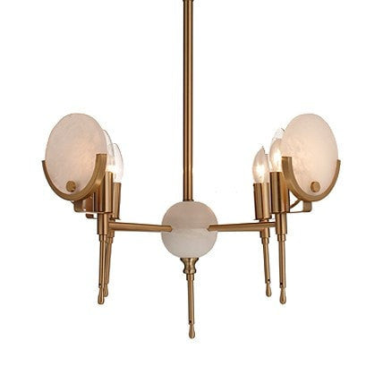 Alabaster Four Arm Chandelier