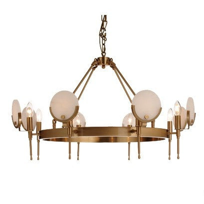 Alabaster Eight Arm Chandelier