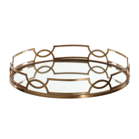 Bronze and Mirror Tray