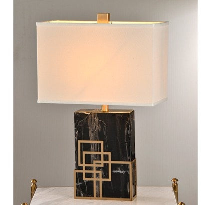 Four Square Marble Lamp