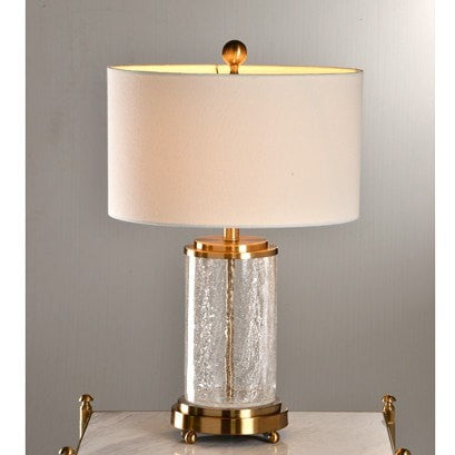 Glitz Bronze and Crystal Lamp