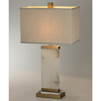 Alabaster Flat Column Table Lamp