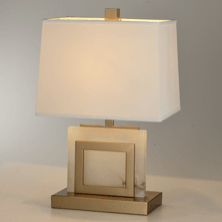 Alabaster and Bronze Table Lamp Small