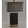 Veined Black Marble Block Lamp