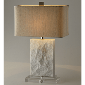 Natural Surface Marble Table Lamp