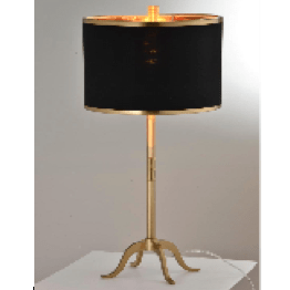 Black and Gold Buffet Lamp